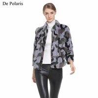 Mink Fur Coat Female MiCai Natural Fur Coats 2018 New Hot Real Fur Coat For Women 50CM Parka Honorable Coats Women Mink Parka
