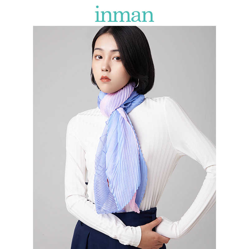 インマンスプリング秋冬シーズン韓国和風エレガントなコントラスト色エアコンすべて一致した学生少女のスカーフ