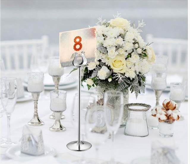 Table Number Holder Gold Silver Wedding Card Holders U Shape Decoration Stainless 10 30cm Stands