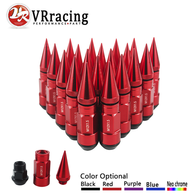 VR RACING- 20PCS WHEEL NUTS HIGH QUALITY ALUMINUM EXTENDED TUNER WHEEL LUG NUTS WITH SPIKE FOR WHEELS/RIMS M12X1.5 VR-LV1215