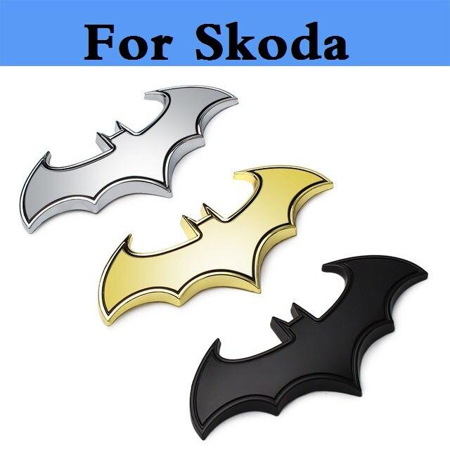 3D Cool Metal bat auto logo car car stickers for Skoda Citigo Fabia RS Octavia Octavia RS Rapid Superb Yeti car styling
