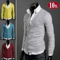 2016 Cardigan Sweater Men New Fashion Autumn Slim Fit Cotton Knit Men Sweater Men's Wool Cardigan V neck Cardigan Masculino