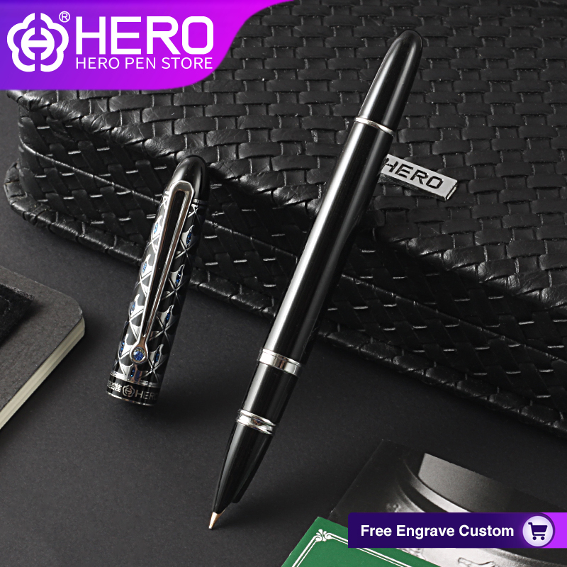 Hero Fountain Pens 10K Gold Tip Crystal Pens Office Business Writing Supplies Iraurita Nib with Gift Box Smooth Writing Pen 1110 lovely student pen for writing 0 5mm nib hero 359 fountain pens office