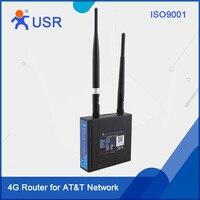 USR-G806-A Бесплатная доставка низкая стоимость Промышленный маршрутизатор LTE AT&T оператора одобренный Поддержка FDD-LTE Band 2/4/12