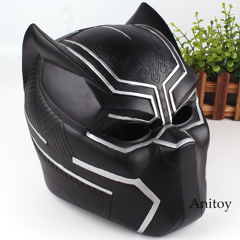 Marvel Comics Marvel Black Panther Action Figure Figurine Black Panther Helmet for Cosplay Toys 21cm captain america civil war black panther helmet 1 1 scale hallowmas party cosplay helmet black panther pvc action figure kids toy