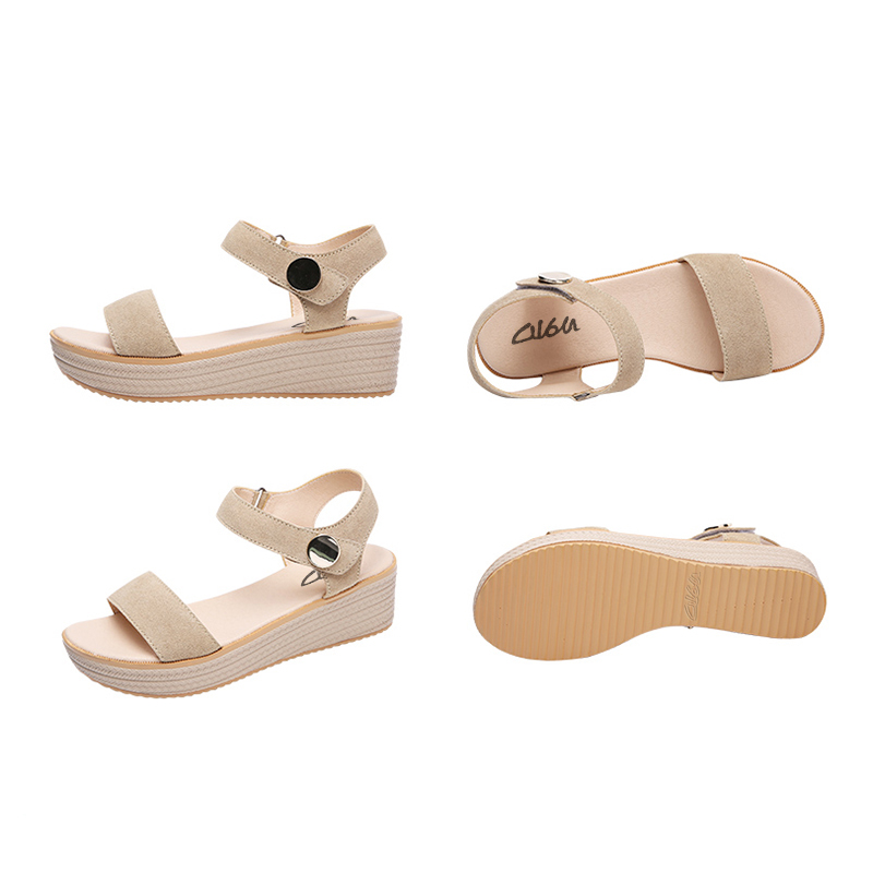 O16U Sandals Women Summer Suede Leather Strap Sandals Shoes Female ... 33271354ba09