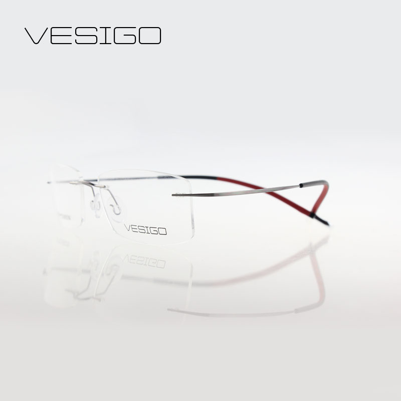 titanium rimless glasses urltra light eyeglasses high quality glasses optical frame man or women silhouette brand