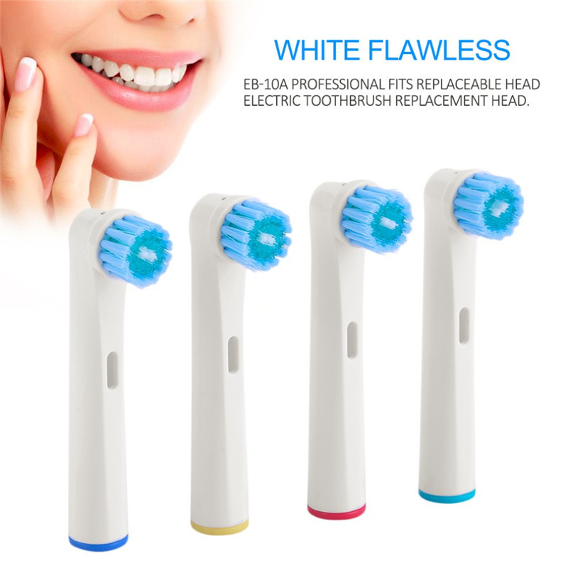 Vbatty EB-17D 4pcs/pack Replacement Electric tooth brush head for <font><b>Oral</b></font> <font><b>B</b></font> electric tooth brush Pro5000/<font><b>7000</b></font> image