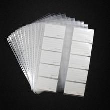 20 hojas/lote A4 30 agujeros bolsa de colección de tarjetas de hojas sueltas, Protector de hojas de bolsa transparente