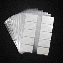 20 sheets/lô A4 30 lỗ Lá Lỏng Lẻo Thẻ Bộ Sưu Tập Túi, Túi Rõ Ràng Tấm Bảo Vệ
