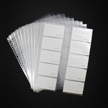 20sheets/lot  A4 30holes Loose Leaf  Cards Collection Bag, Clear Bag Sheets Protector