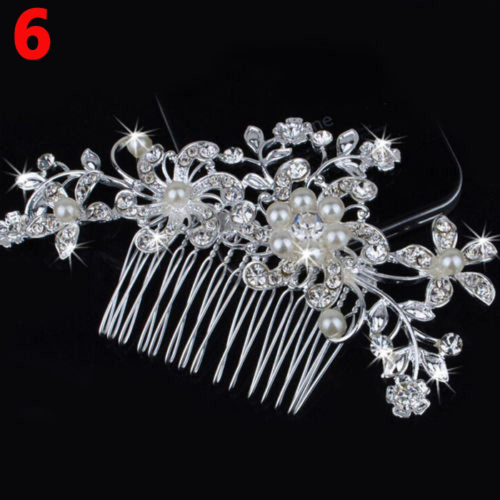 us $1.57 15% off|1pc new popular professional style hair pin fashion flower hair clip comb hairpin bridal wedding hair comb crystal rhinestone-in hair