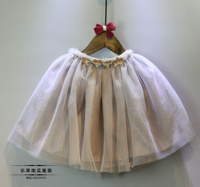 2016 New Girl Skirt Summer Sweet Veil Material Tutu Skirt With Good Quality  (5)
