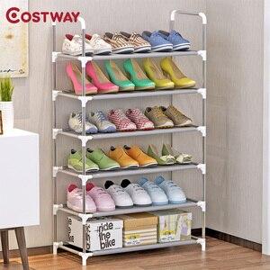 Image 1 - Sapato rack armário de armazenamento suporte sapato organizador prateleira para sapatos móveis para casa meuble chaussure zapatero mueble schoenenrek meble