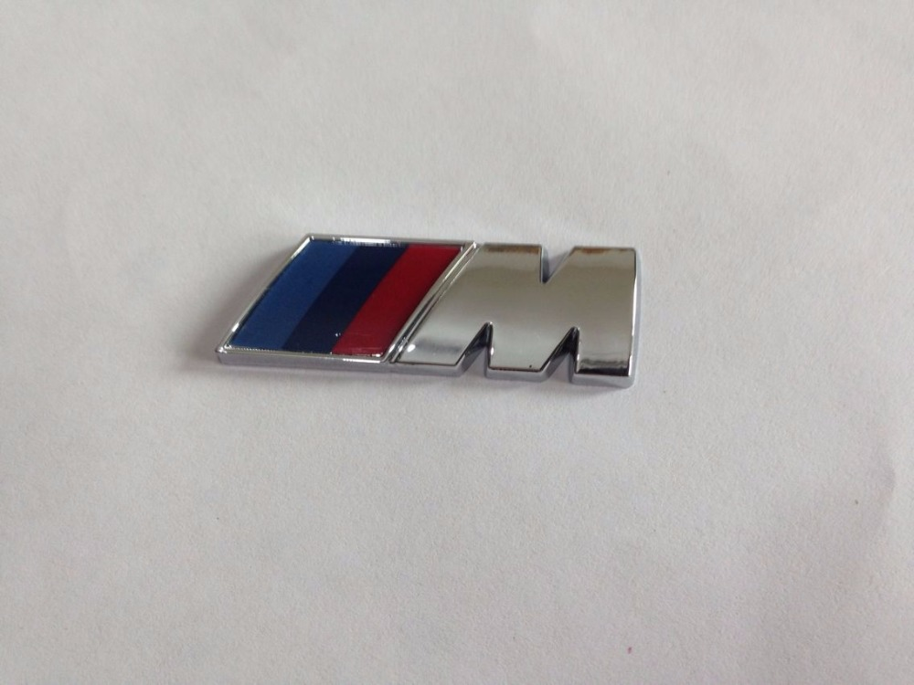 chrome or Black M3 M5 M6 Small ///M Power Vip Car Trunk Lid Sticker Badge Emblem