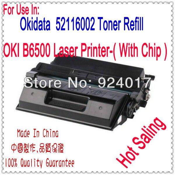 Черный Тонер-Картридж Для OKI B6500 Принтера Для Okidata 52116001 52116002 Тонер, Для OKI 6500 Тонер Пополнения для OKI Тонер