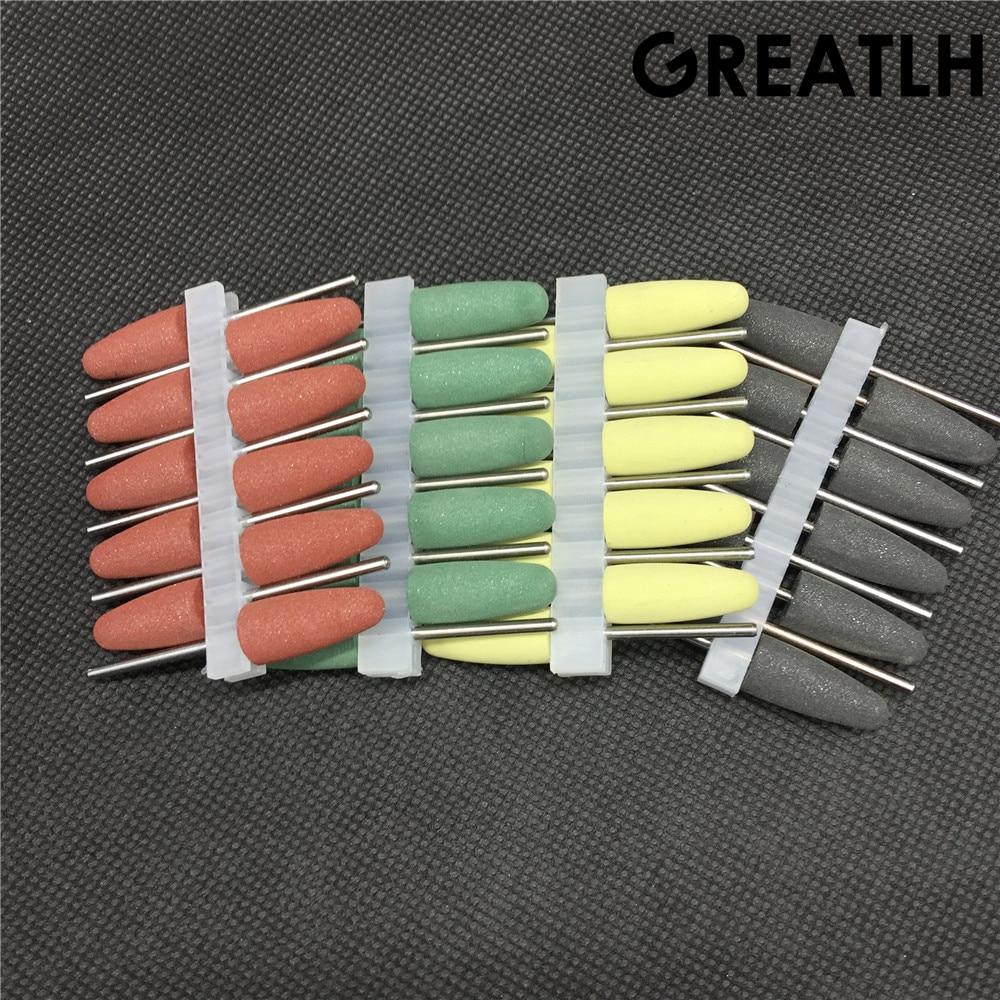 40 Stücke Dental Silikon Polierer Harz Basis Acryl Polieren Bohrer 2,35mm Dental Materialien Zahnaufhellung Mundhygiene