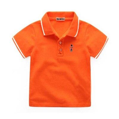 b190b0298210f 2017 été garçons POLO chemise enfants se tournent vers le bas à court de  bande dessinée brodé polyester coton t shirt enfant casual tops enfants  vêtements ...