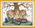 Набор для вышивки крестиком Joy Sunday Three Mermaid  11CT14CT  Набор для вышивки крестиком для домашнего декора  рукоделие