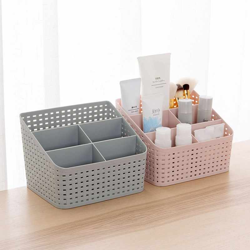 DOZZLOR 1PC 5 Grids Plastic Makeup Storage Box Desktop Socks Bra Underwear Organizer Closet Storage Box Organizer Wardrobe