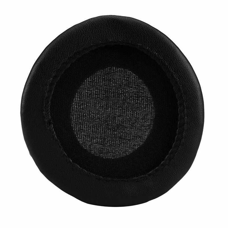 Caliente 1 par de almohadillas de cuero de proteína almohadillas de repuesto 70 MM para auriculares suave Durable de alta calidad negro auricular JH0417