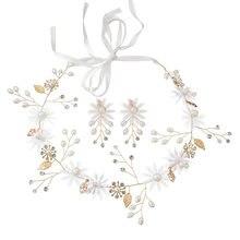 c3508374fe5a Novia de la boda de joyería de alta calidad traje de pelo tocado horquilla  tocado diadema flor chino brindis por una variedad de.