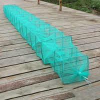 Shrimp Cage Fishing Net Catcher Trap Foldable Portable For Crab Crayfish Lobster MSD-ING