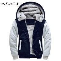 ASALI Bomber Jacket Men 2017 New Brand Winter Thick Warm Fleece Zipper Coat For Mens SportWear