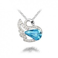 Green Belt Accessories Manufacturers Selling A Hot Dream Swan Lake Crystal Necklace Clavicle Chain Group B159