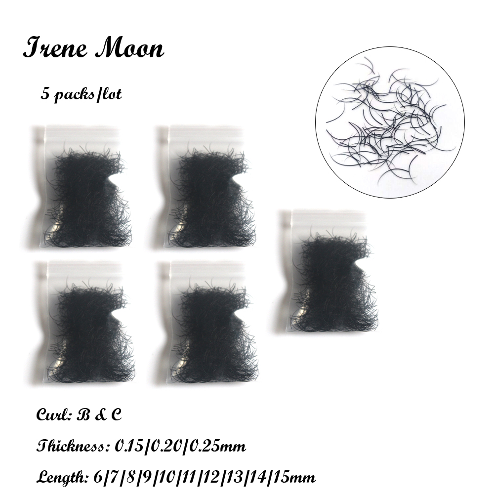 5 packs B&C Curl Individual False Eyelashes 0.15/0.20/0.25mm & 6-15mm(Length) Imitation Mink Eyelashes Extension Makeup