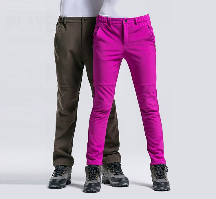 2016 New Design Pants Composite Fleece Slim Outdoor Trousers Windproof Waterproof Ventilate10 Kinds For Male Or Female 3 Seasons