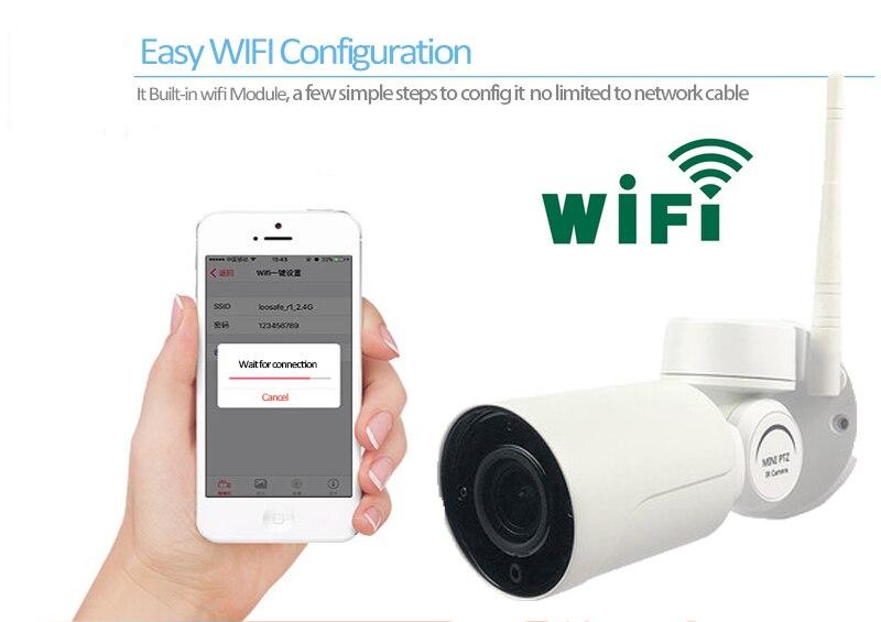 1080P HD Wifi Беспроводная ip камера для домашней безопасности, водонепроницаемая уличная Солнечная камера, ИК ночное видение, двухсторонняя ауди... - 5