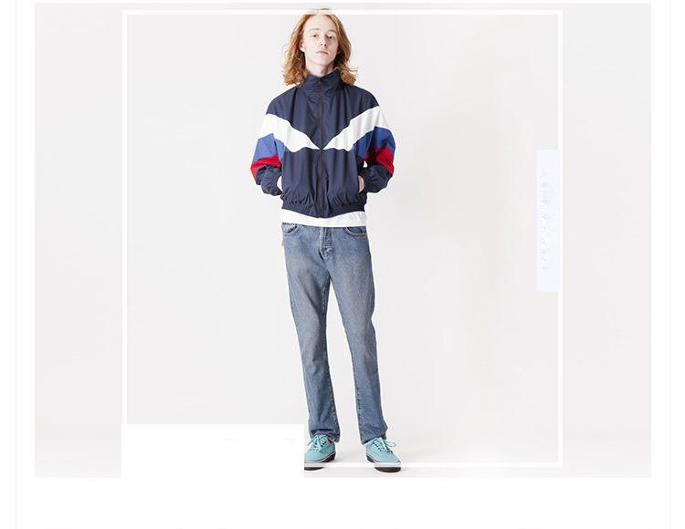 Men Jacket Gosha Rubchinskiy Classic Navy Tricolor Sport Long sleeve Windbreaker Jackets Hiphop Skateboards Couples Outwear S-XL (7)