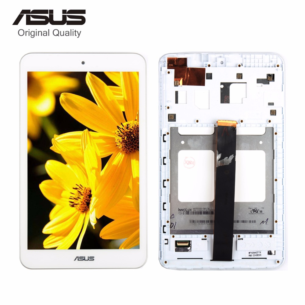 Original For Asus Memo Pad 8 ME181 ME181C K011 LCD Display Digitizer Touch Screen Assembly With Frame Black/White used parts lcd display glass panel touch screen digitizer assembly frame for asus memo pad smart 10 me301 me301t k001 5280n 8v