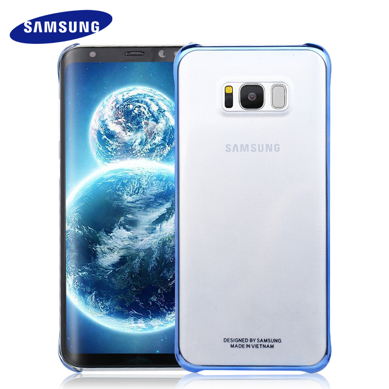 100% Originale Per Samsung S8 S8 Plus Caso guscio protettivo Trasparente Ultra Sottile Posteriore Custodia Protettiva S8 G9550/9500 Trasparente copertura