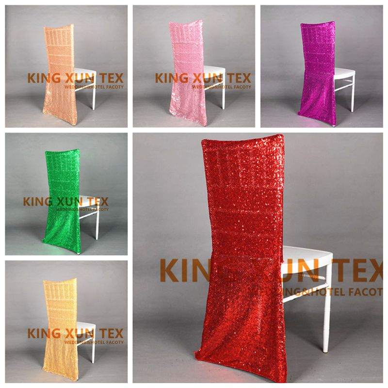 20 50 100pcs Sequin Chair Cover For Chiavari Chair
