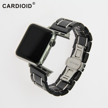6 Color Fashion Ceramic 22mm WatchBands For 38/40/42/44 mm Series iwatch Quality Soft Watch Strap Suit Apple Watch New Bracelet все цены