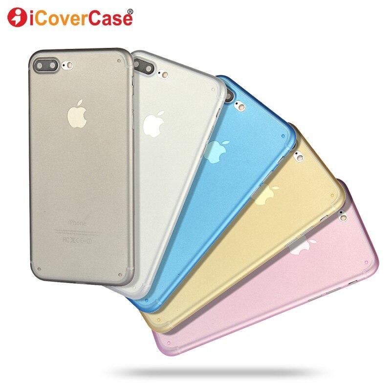 Coque para iphone 7 plus casos bolso de los pp case de silicona suave claro tran