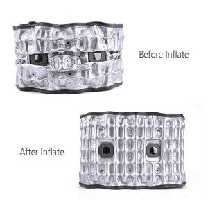 Image 5 - Yükseltilmiş versiyonu çekiş desteği bel kemeri sırt ağrısı için şişme çekiş ısı tedavisi sabit destek bel sarıcı kemer