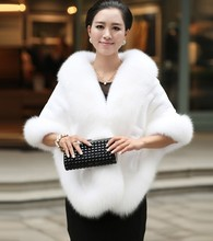 In Stock 2016 Hot Sales Ivory Fashion Bridal Wraps Faux Fur Bolero Women Jacket Wedding Accessories