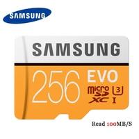 SAMSUNG EVO Class10 U3 MicroSDXC Memory Card 256gb 128gb 64gb Micro Sd 32gb U1 SDHC TF