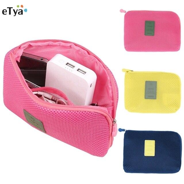 ETya moda kobiety mężczyźni podróży, odporna na wstrząsy cyfrowe słuchawki kabel USB ładowarka Case kosmetyczne makijaż organizator torba na akcesoria