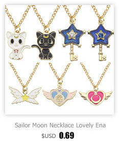 Hot Anime Sailor Moon Necklace Pendant Alloy Silver Color