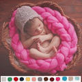 4 M Newborn Fotografia Props Fundo Cobertor da Fibra Cesta handmade Cesta Stuffer Filler atrezzo fotos Cobertor Do Bebê Acrílico