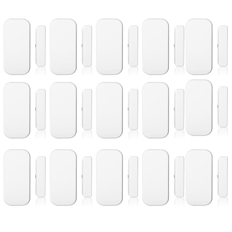 433 mhz Sans Fil Porte Fenêtre Aimant Capteur Détecteur Pour La Maison Sans Fil Système D'alarme 15 pcs/lot