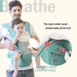 Transportador de bebé ergonómico, mochila Hipseat para recién nacidos y previene piernas tipo o, canguro para bebés