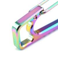 титановый сплав быстроприменяемый пружинная крюк брелок пряжка карабин фонарик пряжка легкая текстура коррозионная стойкость