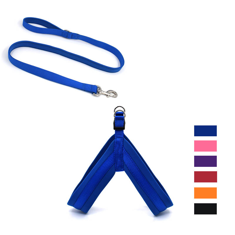 Nylon Dog Harness Soft Padded Pet Harnesses Vest For Walking Small Medium Large Dogs Adjustable XS S M L