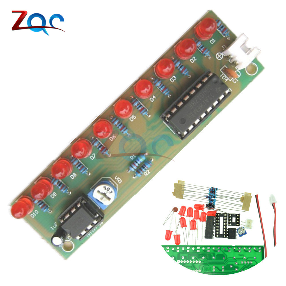 Ne555 + Cd4017 Practice Learing Kits Led Flashing Lights Module Electronic Suite Lsd-10 3-4.5v Diy For Arduino