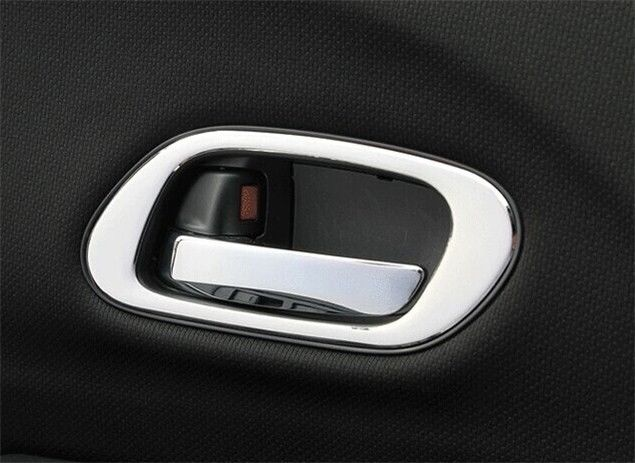 304 Steel Inside <font><b>Door</b></font> <font><b>Handle</b></font> chrome Cover trim 4PC For <font><b>Honda</b></font> Vezel <font><b>HRV</b></font> 2015 2016 image